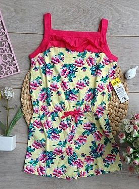 BOBBIE BROOKS JUMPSUIT FLOWER YELLOW ABEB1